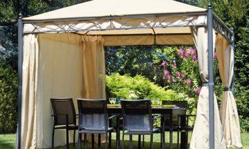Estate outdoor: in giardino punta sul glamour del gazebo